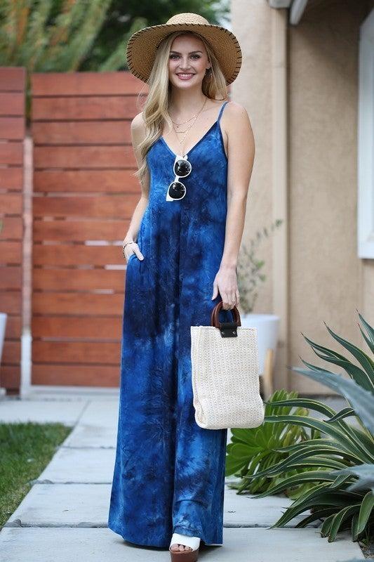 Midnight Swirl Maxi Dress