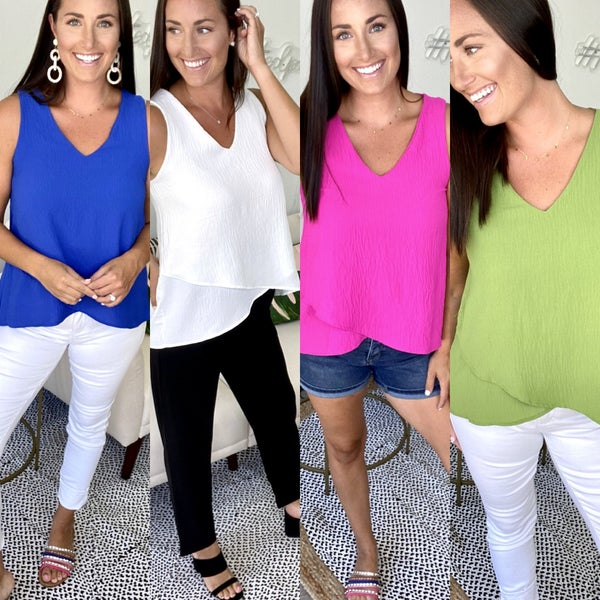 Going Places Layered Hem Top