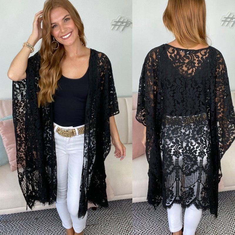 Traveler Black Lace Kimono