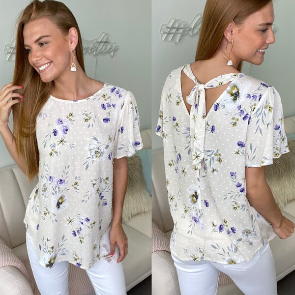 Office Vibes Cream Floral Blouse