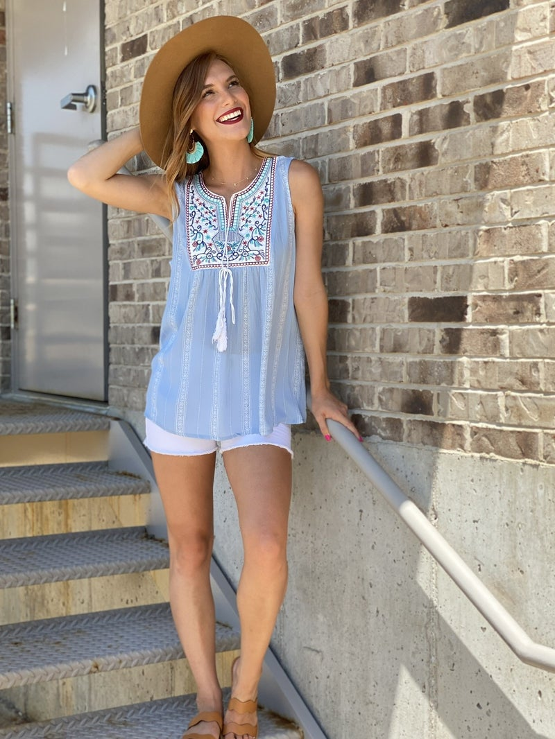 Bring the Boho Embroidered Top