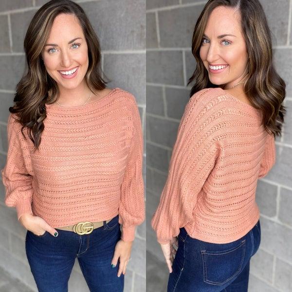 Dusty Rose Dolman Sleeve Sweater