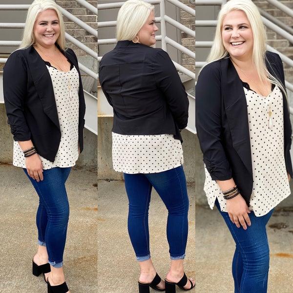 Slay All Day- Plus size blazer