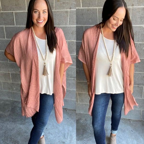 Show Me a Reason Kimono | NEW Mauve Color