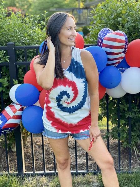 American Swirl Tie Dye Tank