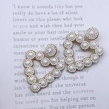 White Beaded Hearts