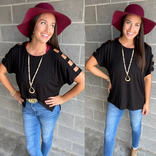 Arm Candy Ladder-Sleeve Top