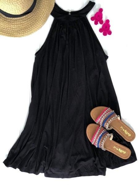 Paloma Please Halter Neck Black Dress