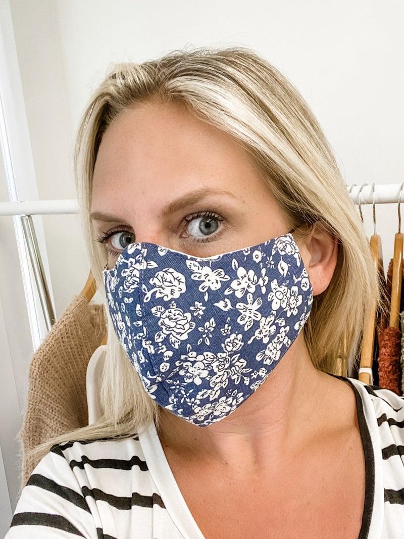Floral Fashion Mask- Masks