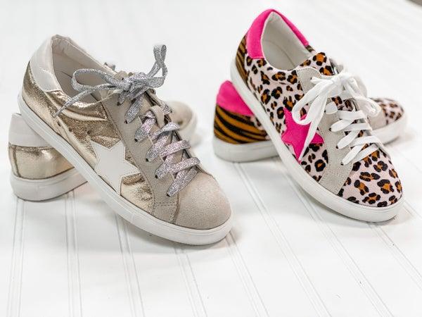 Star Strut Sneaker in Leopard and Metallic