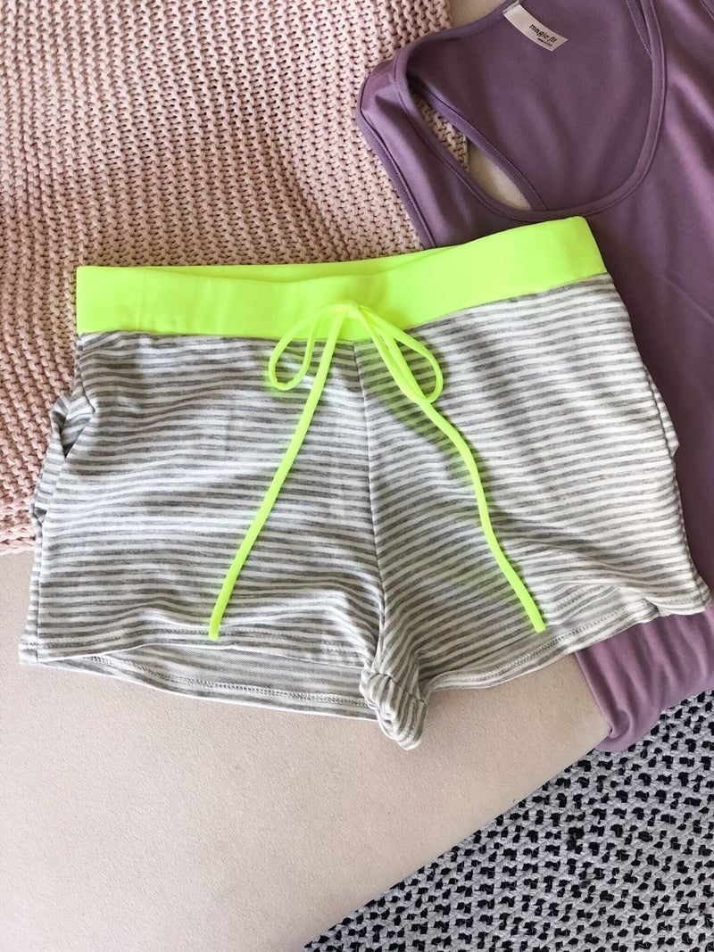 Highlighter Yellow Dock Shorts