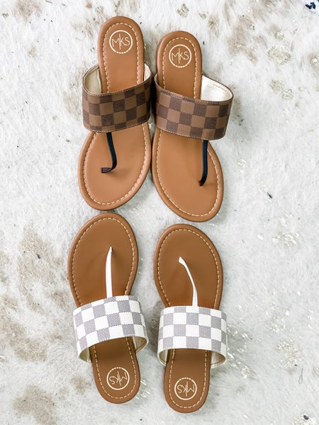 Checkmate Sandals   2 Colors