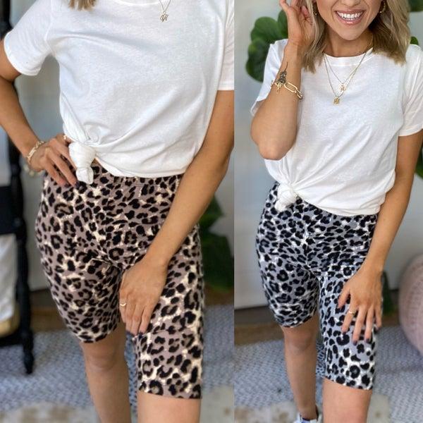 Alley Cat Biker Shorts | 2 Colors