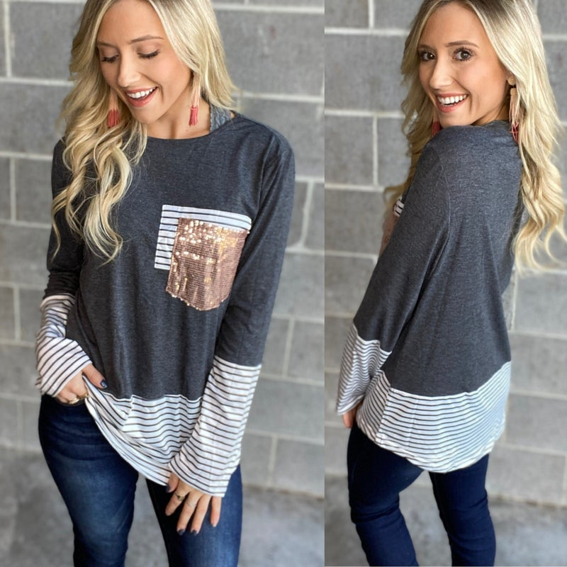 Sequins and Stripes Top
