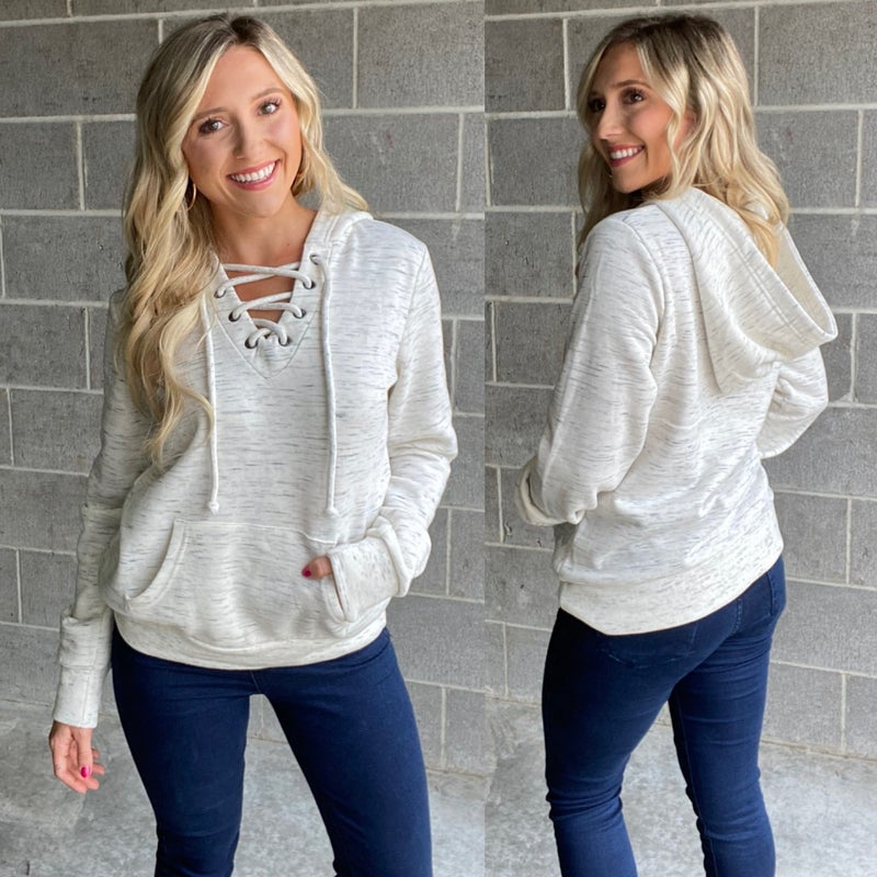 Lace Me Up Pullover