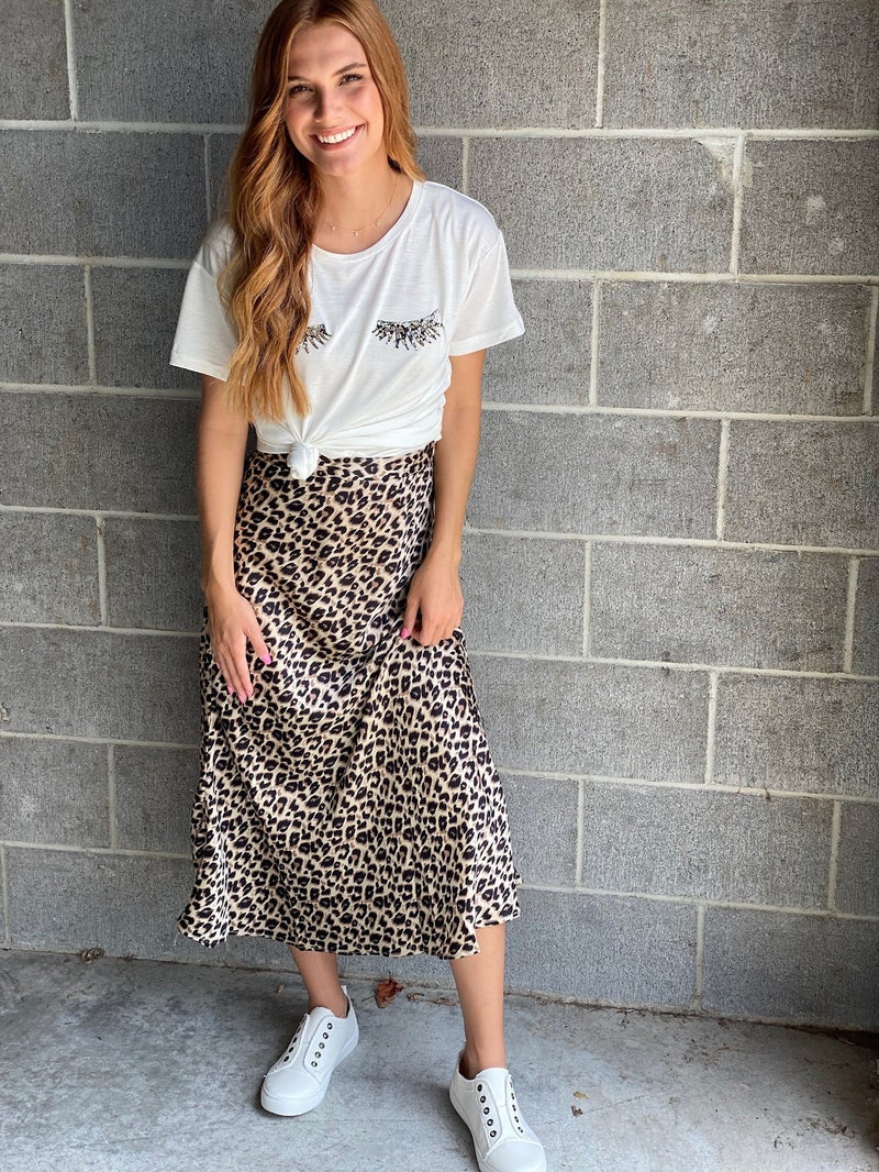 Leave It To Me Leopard Skirt