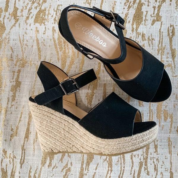 The Noelle Wedge Sandal