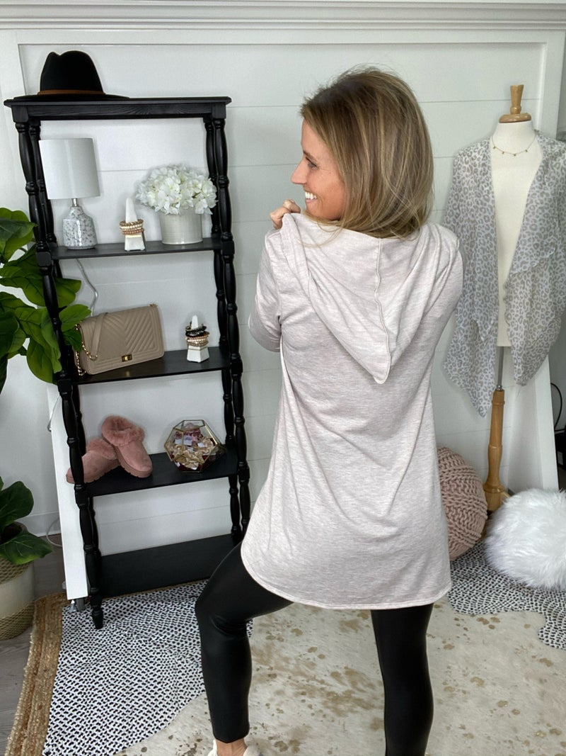 Taupe Town Terry Top