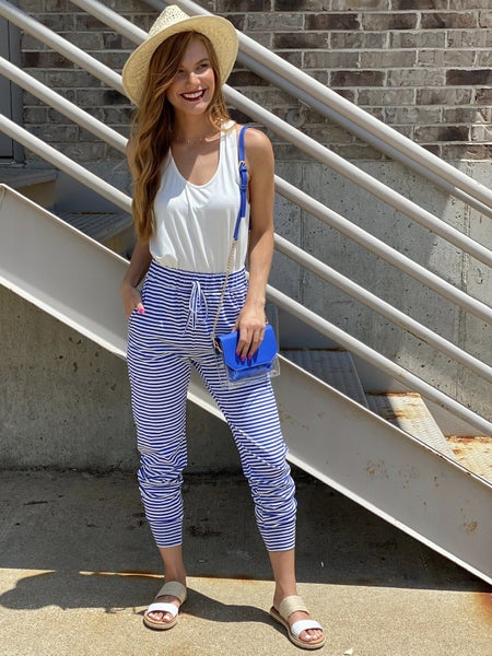 Monday Blues Striped Jogger