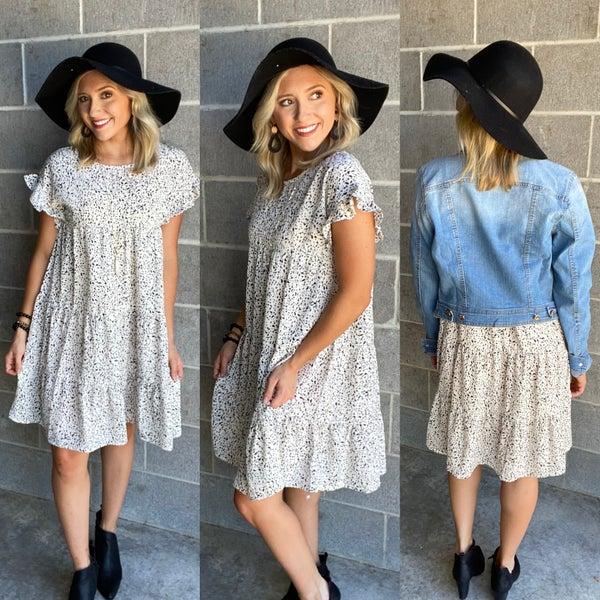 Break My Heart Dot Print Dress