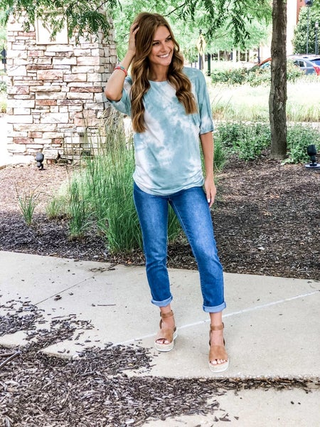 Om Girl Tie Dye Top