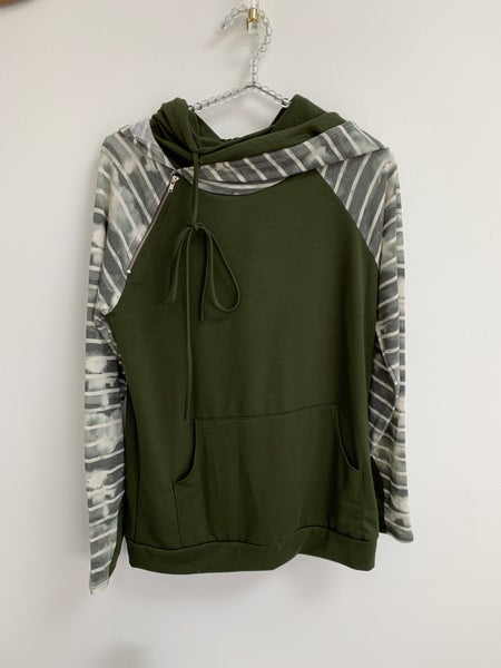 Side Zip Hooded Sweater