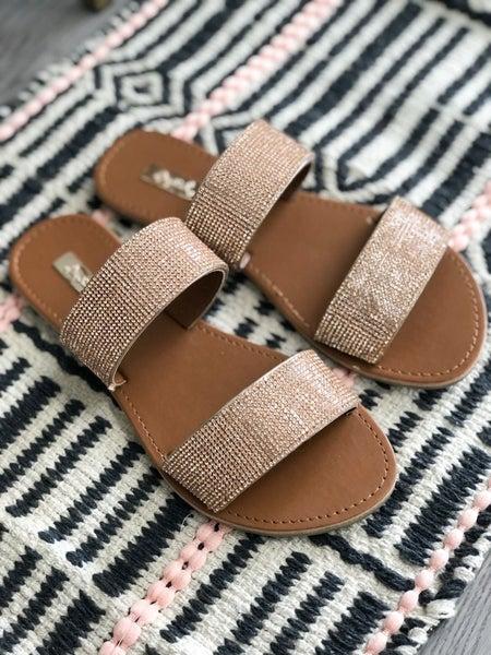 Goddess of Summer Rose Gold Sandals