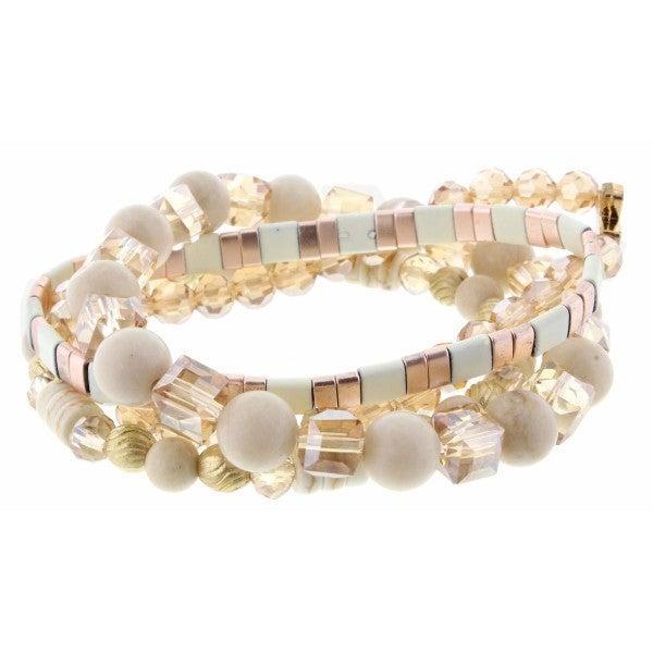 Champagne Beaded Bracelets