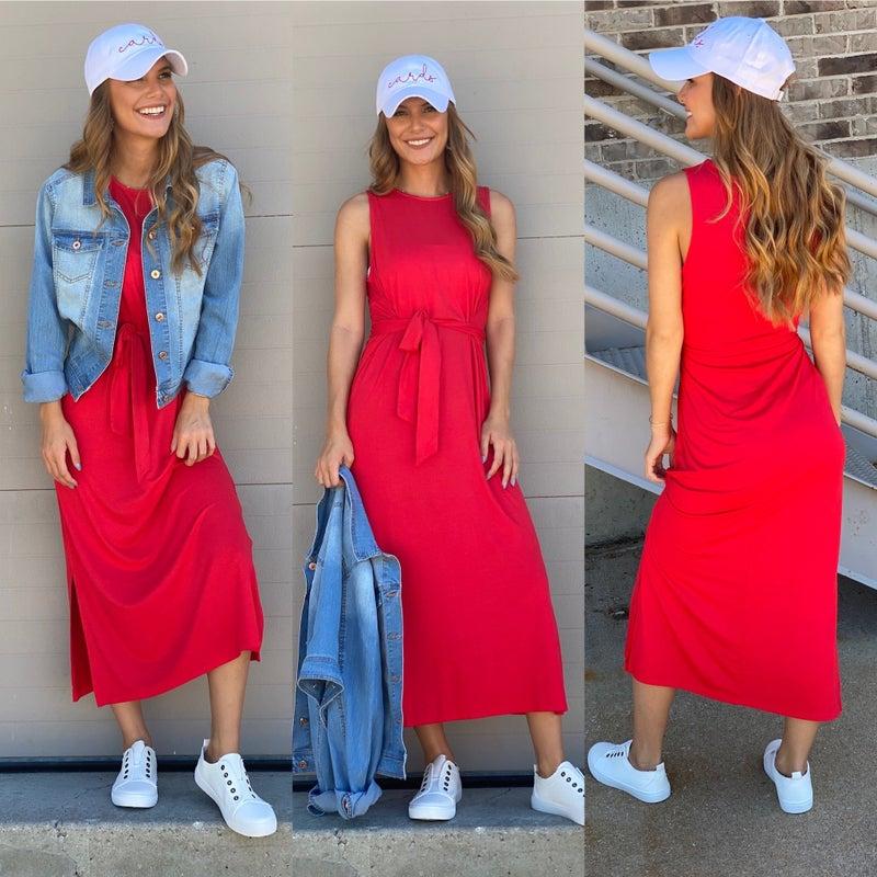 Follow My Lead Dress -Red