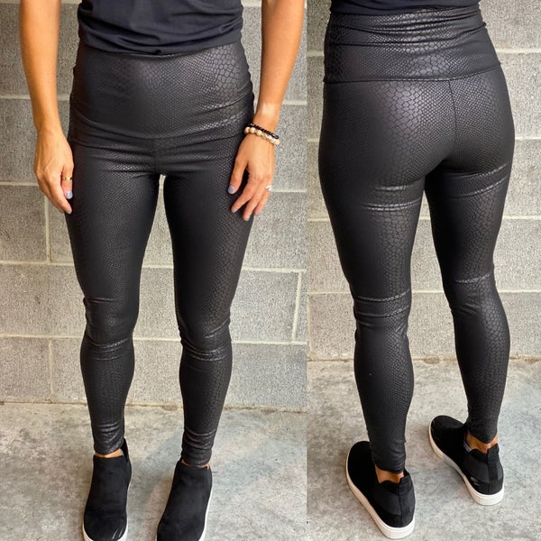 All NEW faux leather leggings | Printed