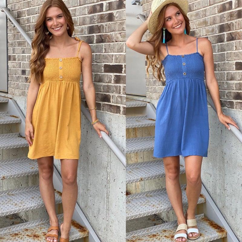 Forever Summer Linen Blend Dress