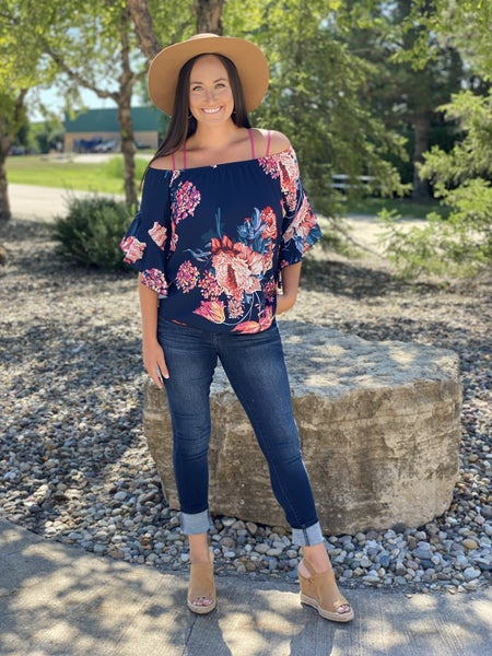 Rose All Day Off the Shoulder Floral Top