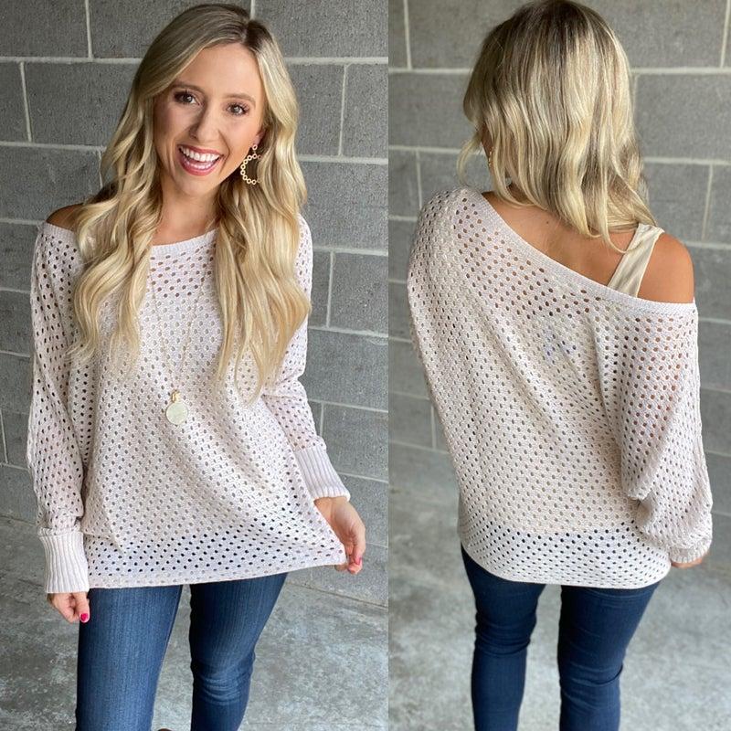 Eyelet Knit Sweater    Add to Waitlist Authorize!