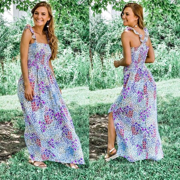 Summer Garden Bright Floral Maxi