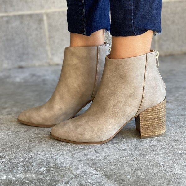 Kick It Booties in Taupe