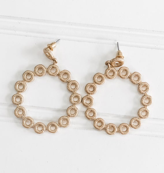 With these Rings Gold Earrings