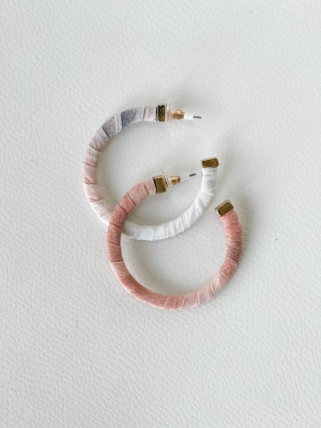 Tie-Dye Wrapped Hoop Earrings