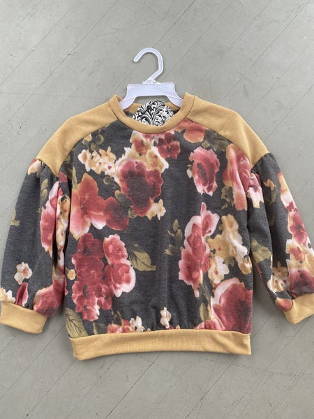 Floral Mustard Bubble Sleeve