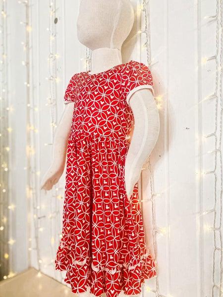 Sweet Mini Ruffle Swing Dress