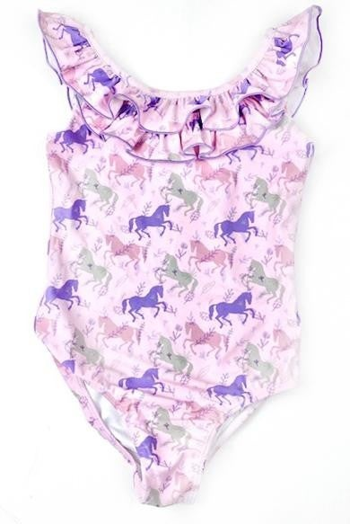 Pastel Ruffle Unicorn Swimsuit