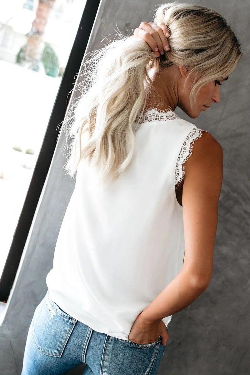 Eyelash Cami- White