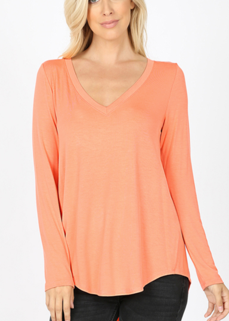 Long Sleeve- Coral