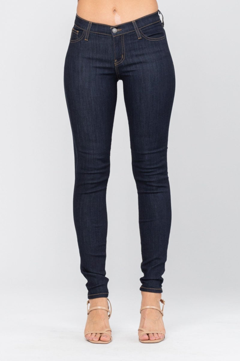 High Waist Dark Skinny