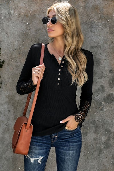 Black Crochet Lace Sleeve