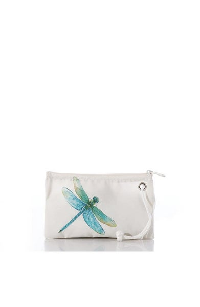 Watercolor Dragonfly Wristlet
