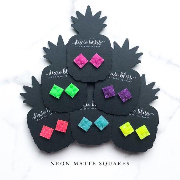 Neon Matte Squares