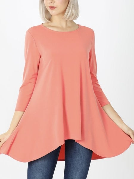Deal of the Day 3/4 Sleeve High Low Top