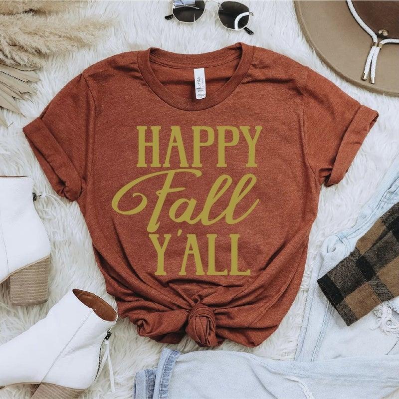 Happy Fall Y'all Tee