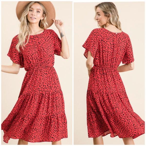 Red Dalmatian Dress