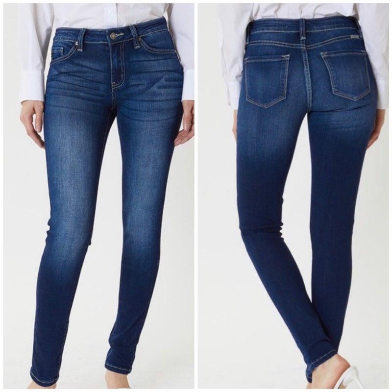 KanCan Mid Rise Dark Skinny Jeans